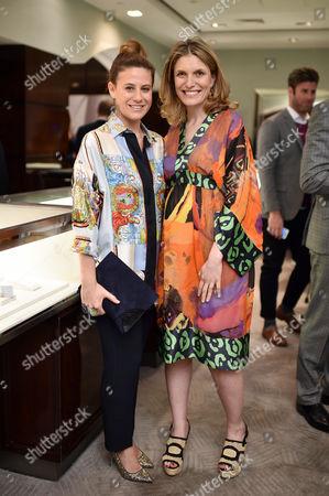 Francesca Versace and Martina Mondadori