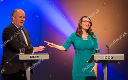 Editorial photo of The Wales Report Leader's Debate, Cardiff, Britain - 27th Apr 2016
