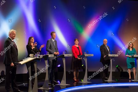 Editorial picture of The Wales Report Leader's Debate, Cardiff, Britain - 27th Apr 2016