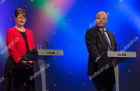 Leanne Wood, Plaid Cymru leader and Andrew RT Davies, Welsh Conservatives leader