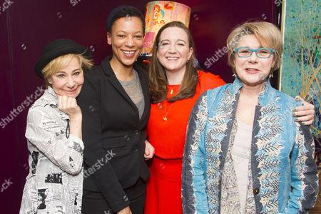 Zoe Wanamaker (Lorna), Nina Sosanya (Miriam), Josie Rourke (Director) and Barbara Flynn (Carrie)