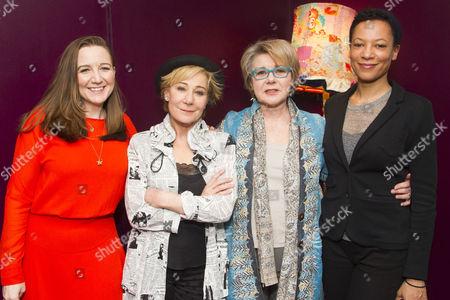 Josie Rourke (Director), Zoe Wanamaker (Lorna), Barbara Flynn (Carrie) and Nina Sosanya (Miriam)