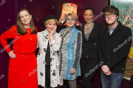 Josie Rourke (Director), Zoe Wanamaker (Lorna), Barbara Flynn (Carrie), Nina Sosanya (Miriam) and Nick Payne (Author)