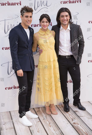Jorge Blanco, Martina Stoessel and Adrian Salzedo