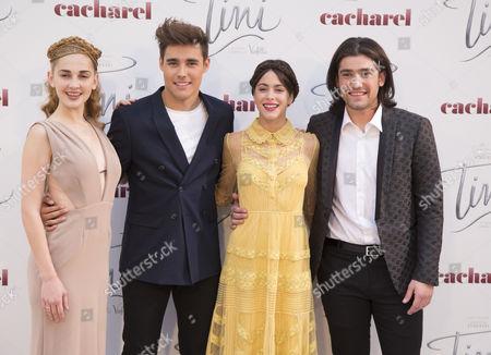 Mercedes Lambre, Jorge Blanco, Martina Stoessel and Adrian Salzedo