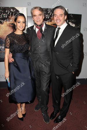 Devika Bhise, Jeremy Irons and Matthew Brown (Director)