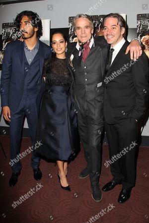 Dev Patel, Devika Bhise, Jeremy Irons and Matthew Brown (Director)