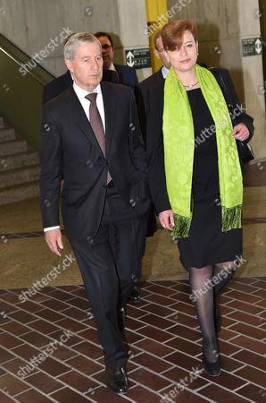 Juergen Fitschen and lawyer, Barbara Livonius