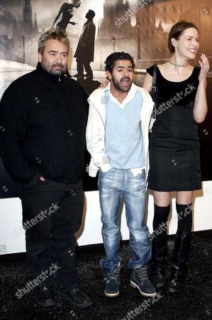 Luc Besson, Jamel Debbouze and Rie Rasmussen