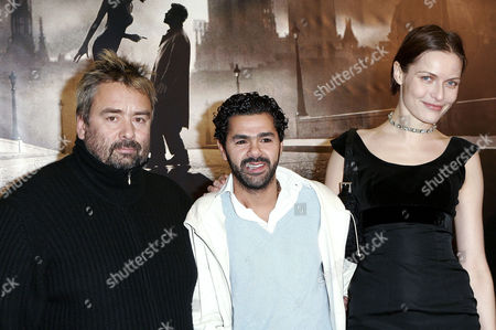 Luc Besson, Jamel Debbouze and Rie Rasmussen