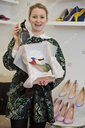 Editorial image of Shoe Designer Sarah Watkinson-yull. News - Louise Eccles Interview -.
