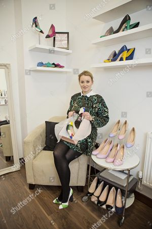 Stock Image of Shoe Designer Sarah Watkinson-yull. News - Louise Eccles Interview -.
