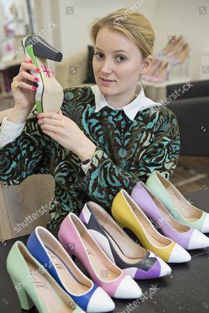 Editorial photo of Shoe Designer Sarah Watkinson-yull.