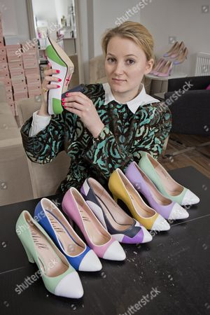 Stock Picture of Shoe Designer Sarah Watkinson-yull. News - Louise Eccles Interview -.
