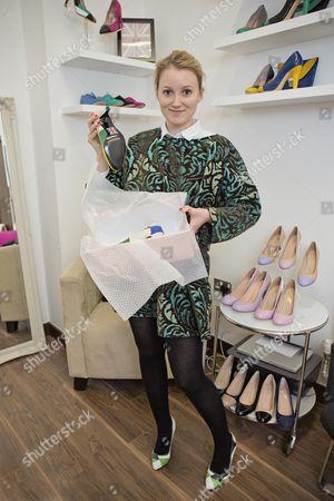 Editorial picture of Shoe Designer Sarah Watkinson-yull.