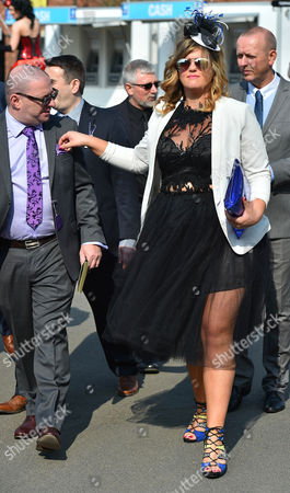 9/4/15 Day1 - Grand National Meeting At Aintree Racecourse Merseyside.- Fashion Selection Race Goer Sarah Evans From Liverpool.