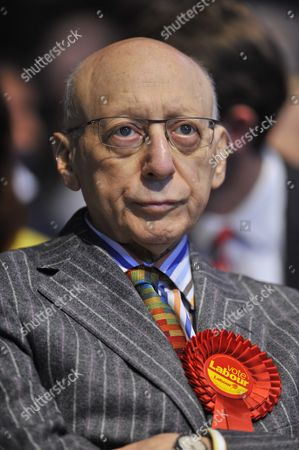 Editorial image of Pic Bruce Adams / Copy Groves -13/4/15 Labour Party Launch Their Election Manifesto At The Old Granada Studios Manchester. - Gerald Kaufman.