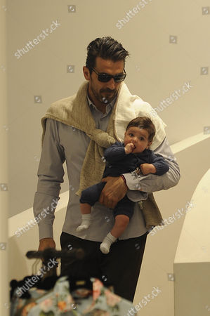 Gianluigi Buffon with son Leopoldo Mattia
