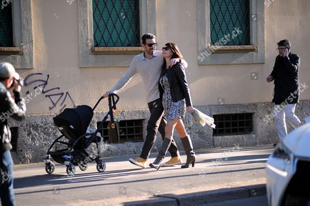 Gianluigi Buffon and Ilaria D'Amico with their son Leopoldo Mattia