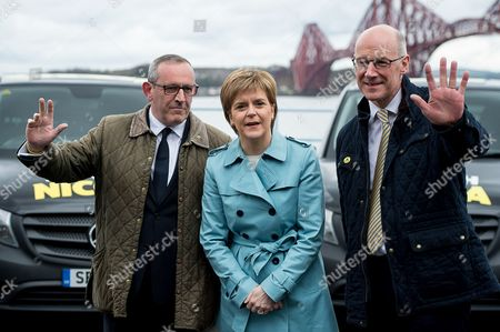 First Minister Nicola Sturgeon, deputy first minister John Swinney and deputy leader Stewart Hosie