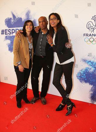 Stock Photo of Valerie Nicolas, Laurent Chambertin, Emmeline Ndongue