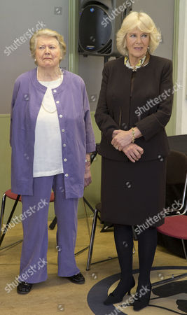 Patricia Routledge and Camilla Duchess of Cornwall