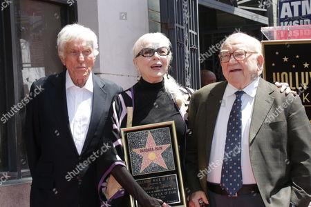 Dick Van Dyke and Barbara Bain with Ed Asner