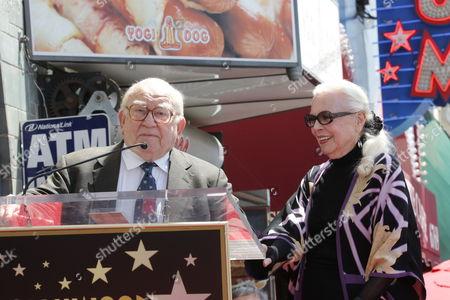 Ed Asner and Barbara Bain