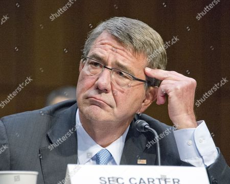 Editorial picture of Senate Armed Services hearing on Counter ISIL Operations, Washington DC, America - 28 Apr 2016