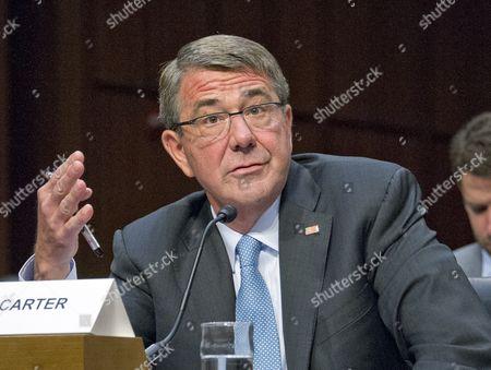 Stock Picture of Secretary Of Defense, Ashton B. Carter gives testimony