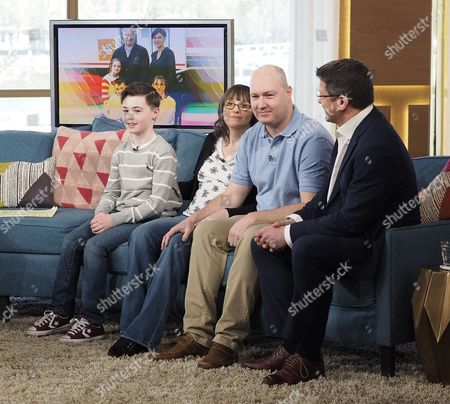 Stock Photo of Garin Morgan, Adele Morgan, Ashley Morgen and Neurosurgeon Dr Richard Edwards