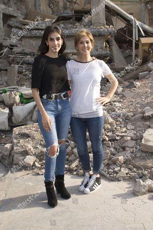 Editorial photo of 'Earthquake 86' film set press conference, Mexico City, Mexico. - 28 Apr 2016