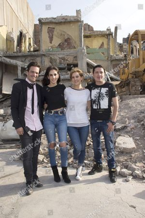 Editorial picture of 'Earthquake 86' film set press conference, Mexico City, Mexico. - 28 Apr 2016