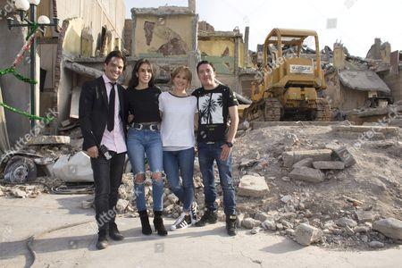 Editorial image of 'Earthquake 86' film set press conference, Mexico City, Mexico. - 28 Apr 2016