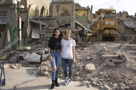 Stock Picture of Sandra Echeverria and Aurora Papile