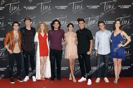 The cast - Pasquale Di Nuzzo, Ridden van Kooten, Mercedes Lambre, Adrian Salzedo, Martina Stoessel , Jorge Blanco, Leonardo Cecchi, Clara Alonso