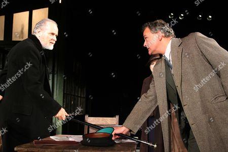 Stock Image of William Gaminara as Peter Stockton and Hugh Bonniville as Dr Thomas Stockman