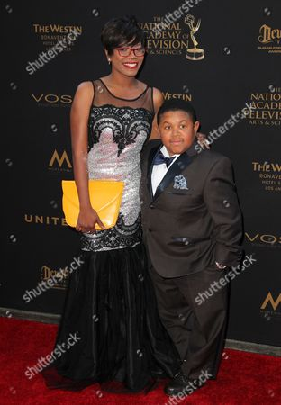 Stock Image of Ebonice Atkins and Emmanuel Lewis