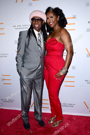 Stock Image of Nile Rodgers, Alfa Anderson