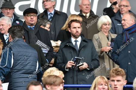 Gareth Southgate in the crowd and chairman Dean Holdsworth during the Sky Bet Championship match between Bolton Wanderers and Hull City at the Macron Stadium, Bolton