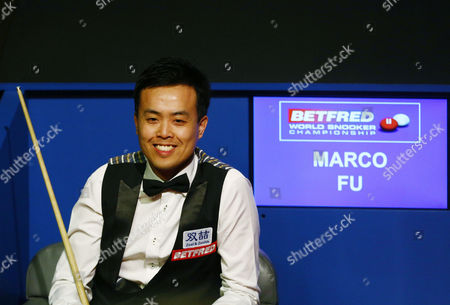 Marco Fu smiles during the semi final on day 15 of the Betfred World Snooker Championship 2016 at the Crucible Theatre, Sheffield on 29th April 2016