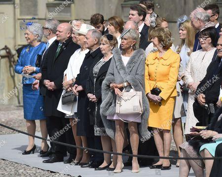 Princess Christina, Tord Magnuson, Marie Hellqvist, Princess Birgitta, Princess Desiree Nosbusch, The King's birthday celebration on the Outer courtyard, Royal Palace, Stockholm