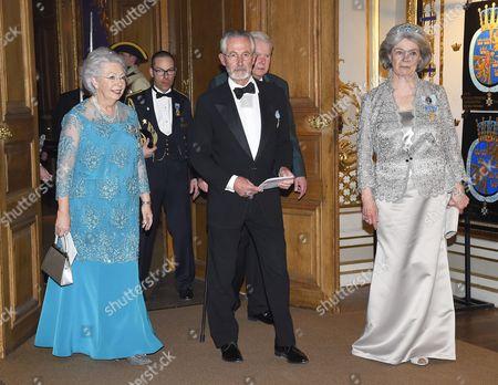 Princess Christina, Tord Magnuson, Princess Margaretha of Liechtenstein
