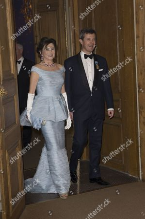Crown Prince Frederik, Dorrit Moussaieff, Banquet in connection with The King's birthday, Royal Palace, Stockholm