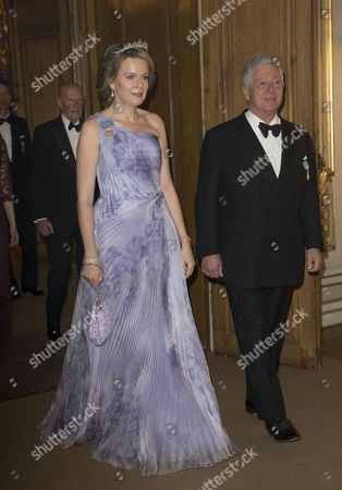 Queen Mathilde, Crown Prince Alexander, Banquet in connection with The King's birthday, Royal Palace, Stockholm