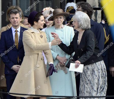 Crown Princess Mary and Princess Benedikte of Denmark, Princess Margaretha of Liechtenstein of Sweden