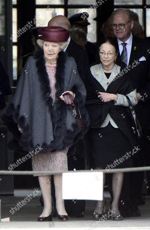 Stock Picture of Princess Beatrix of Netherlands, Queen Margarita of Bulgaria