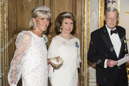 Princess Birgitta of Sweden, Princess Desiree Nosbusch, Niclas Silfverschiöld, Banquet in connection with The King's birthday, Royal Palace, Stockholm