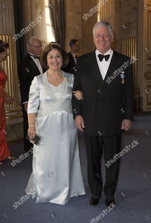 Crown Prince Alexander and Crown Princess Katherine of Serbia, Banquet in connection with The King's birthday, Royal Palace, Stockholm