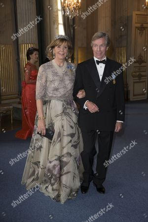 Prince Leopold of Bavaria and Princess Ursula of Bavaria, Banquet in connection with The King's birthday, Royal Palace, Stockholm